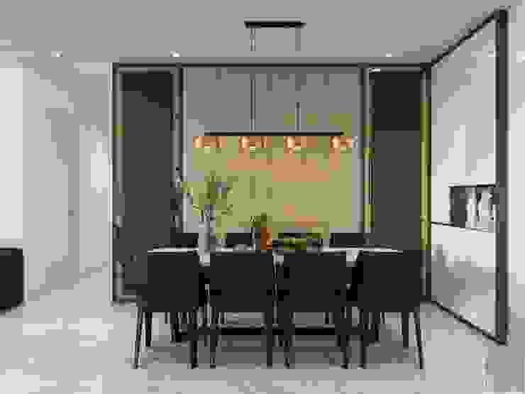Thiết kế nội thất hiện đại tại căn hộ Landmark 4 – Khu đô thị Vinhomes Central Park Phòng ăn phong cách hiện đại bởi ICON INTERIOR Hiện đại