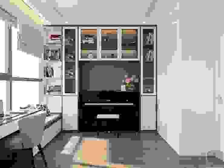 Thiết kế nội thất hiện đại tại căn hộ Landmark 4 – Khu đô thị Vinhomes Central Park Phòng học/văn phòng phong cách hiện đại bởi ICON INTERIOR Hiện đại