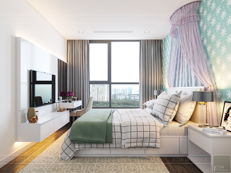 Thiết kế nội thất hiện đại tại căn hộ Landmark 4 – Khu đô thị Vinhomes Central Park Phòng trẻ em phong cách hiện đại bởi ICON INTERIOR Hiện đại
