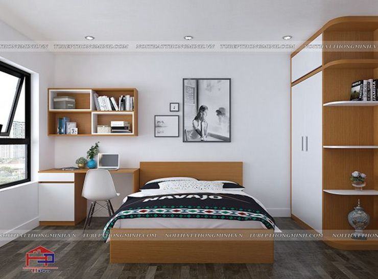 Ảnh thiết kế nội thất phòng ngủ bé trai nhà anh Mai ở Việt Trì: hiện đại  by Nội thất Hpro, Hiện đại