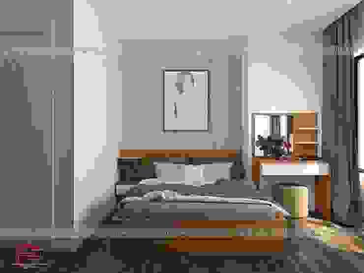 Ảnh thiết kế 3D nội thất phòng ngủ con gái anh Mai ở Việt Trì: hiện đại  by Nội thất Hpro, Hiện đại