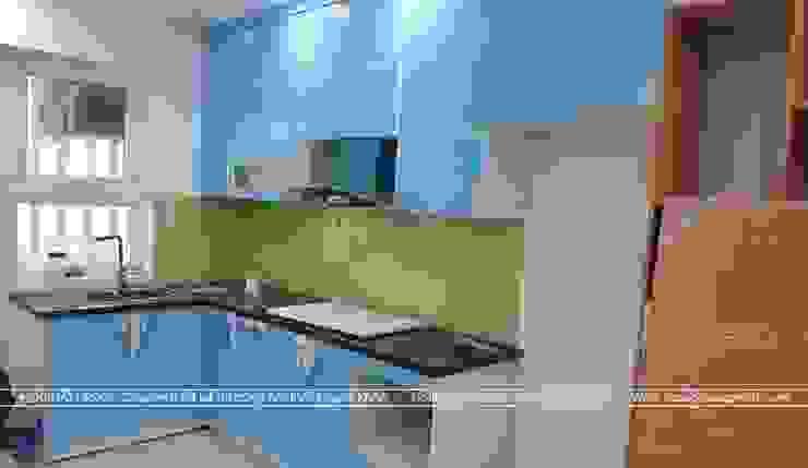 Ảnh thi công tủ bếp acrylic nhà anh Mai ở Việt Trì: hiện đại  by Nội thất Hpro, Hiện đại