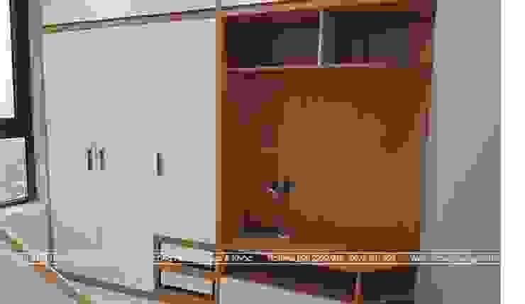 Ảnh thực tế tủ quần áo đa năng trong phòng ngủ con gái nhà anh Mai ở Việt Trì: hiện đại  by Nội thất Hpro, Hiện đại