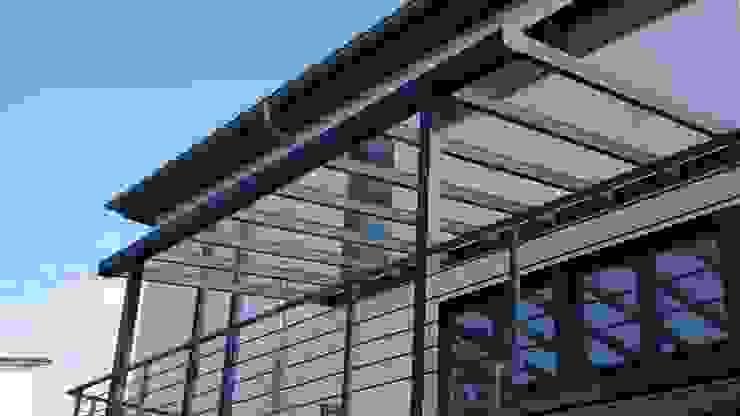 Terrassendach Exclusiv MeterStein - Überdachung Klassische Bürogebäude Aluminium/Zink Grau