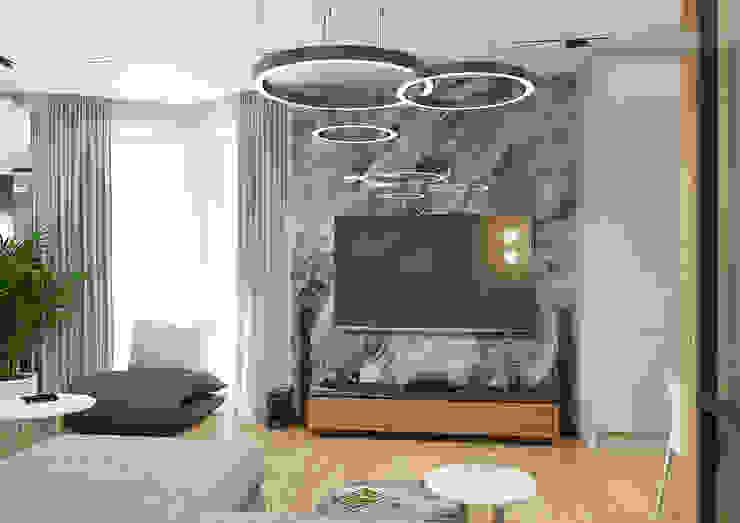 Дизайн Студия 33 现代客厅設計點子、靈感 & 圖片