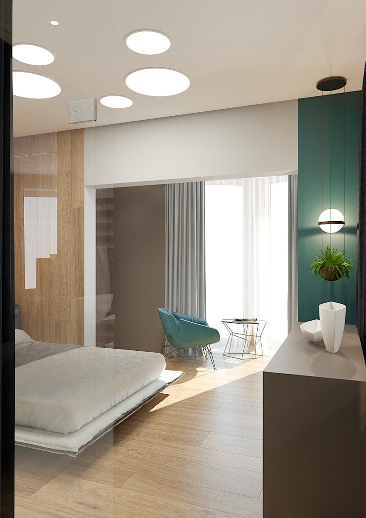 Modern style bedroom by Дизайн Студия 33 Modern