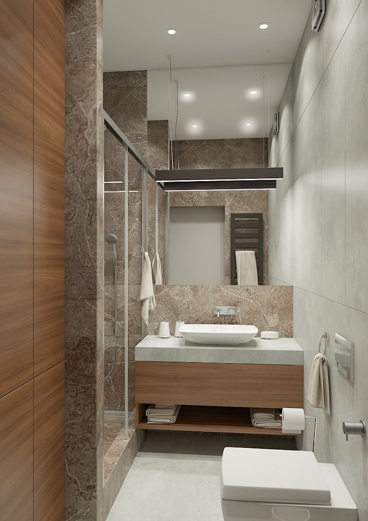 Modern bathroom by Дизайн Студия 33 Modern