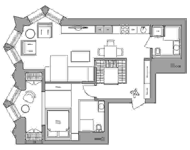 Дизайн Студия 33 牆面