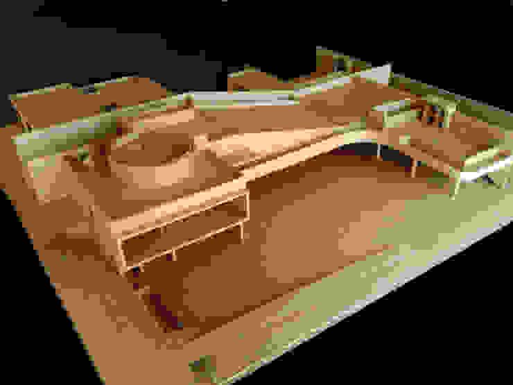 A Garden Serpentine Structure Modern Houses by PWM Architects Modern