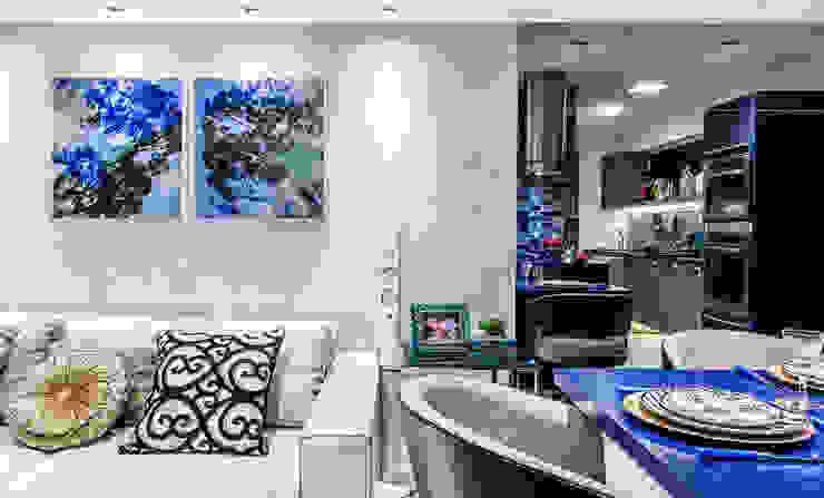 Arquitetura Sônia Beltrão & associados Modern Living Room Blue