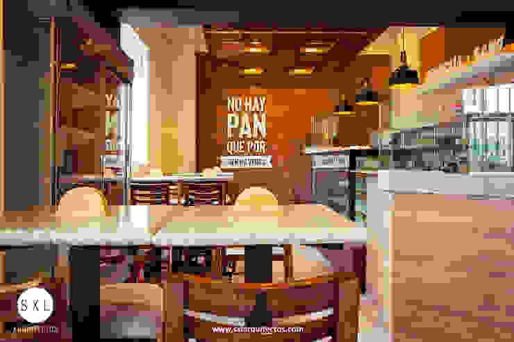 Cafetería El Gran Molino de SXL ARQUITECTOS Moderno Madera Acabado en madera