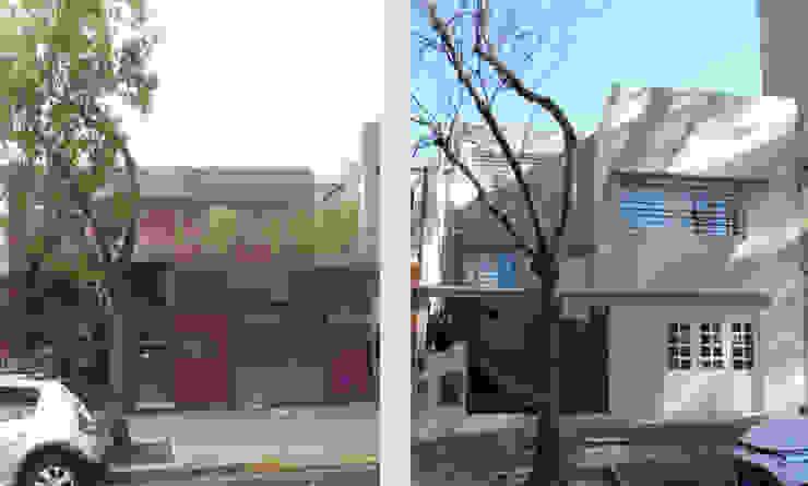 Casa Cuba - Antes y Después D4-Arquitectos Casas unifamiliares Piedra Beige