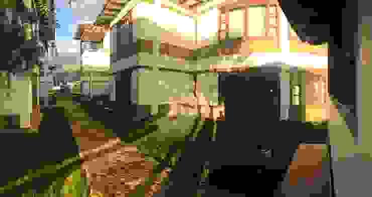 Vista interna del condominio de cesar sierra daza Arquitecto Rústico Piedra