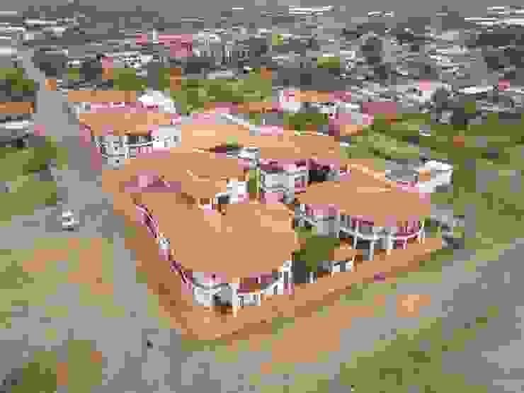 Vista aerea detalle de techos en teja de barro Casas de estilo rústico de cesar sierra daza Arquitecto Rústico Cerámico