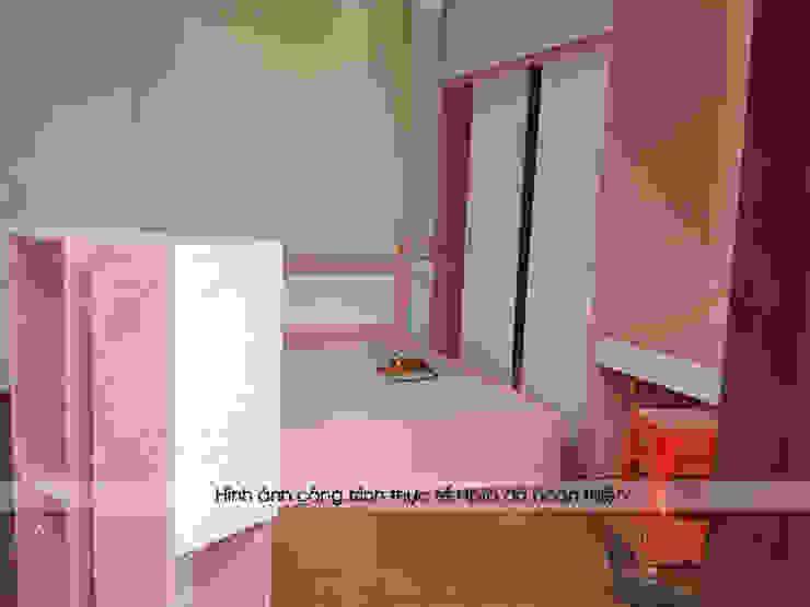 Lắp đặt toàn bộ nội thất phòng ngủ bé gái nhà anh Toản ở Lạng Sơn: hiện đại  by Nội thất Hpro, Hiện đại