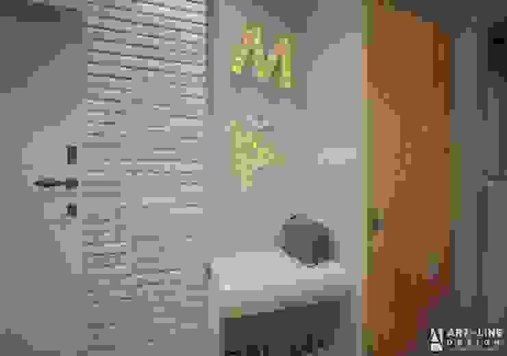 Art-line Design Minimalistischer Flur, Diele & Treppenhaus