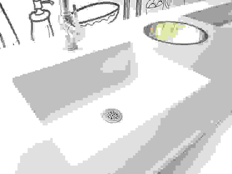 ท็อปหินสังเคราะห์ในห้องน้ำ: ทันสมัย  โดย Believer Productions Co., Ltd , โมเดิร์น วัสดุสังเคราะห์ Brown