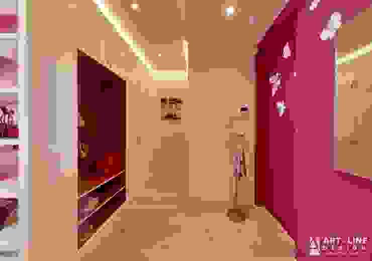 Art-line Design ทางเดินสไตล์สแกนดิเนเวียห้องโถงและบันได Purple/Violet