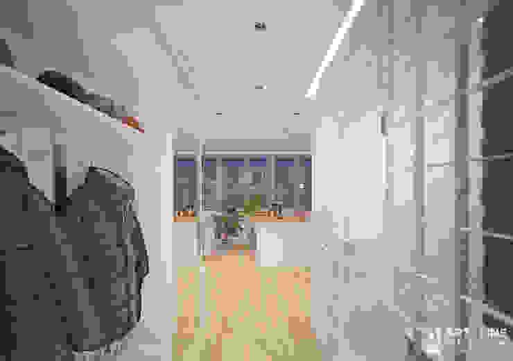 Art-line Design Scandinavian style corridor, hallway& stairs