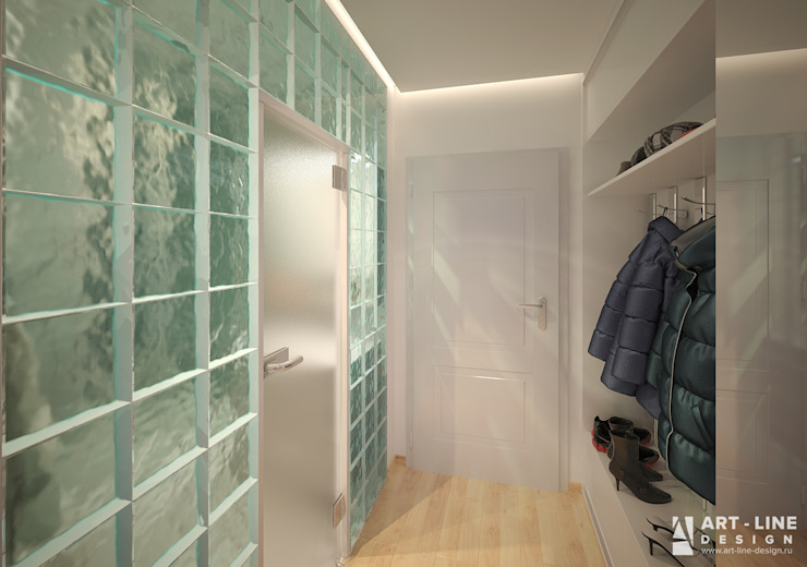 Art-line Design Scandinavian style corridor, hallway& stairs White