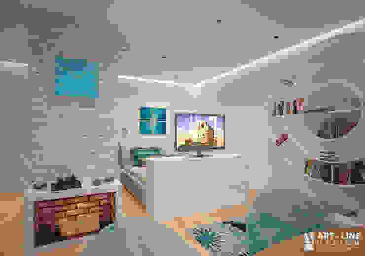 Art-line Design Scandinavian style living room White