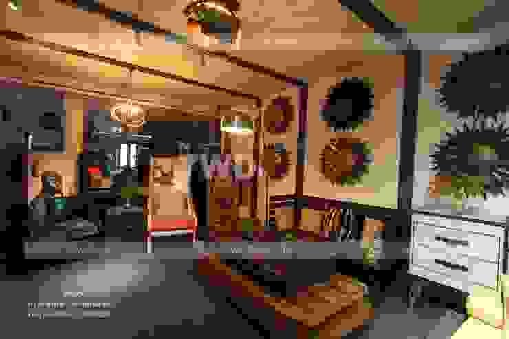 7WD Design Studio Moderne Wohnzimmer