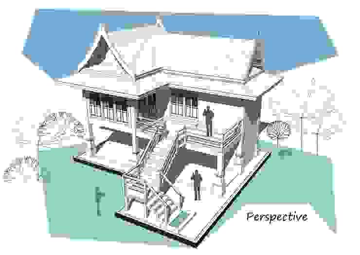 Project : ออกแบบกุฏิ...เรือนไทยประยุกต์ โดย Hip and Classic Design Studio คลาสสิค