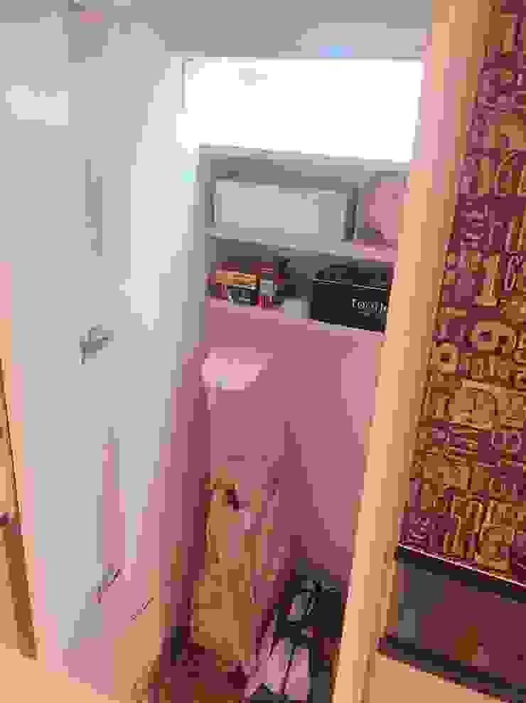隱藏的儲藏櫃 藏私系統傢俱 玄關、走廊與階梯儲藏櫃 MDF White