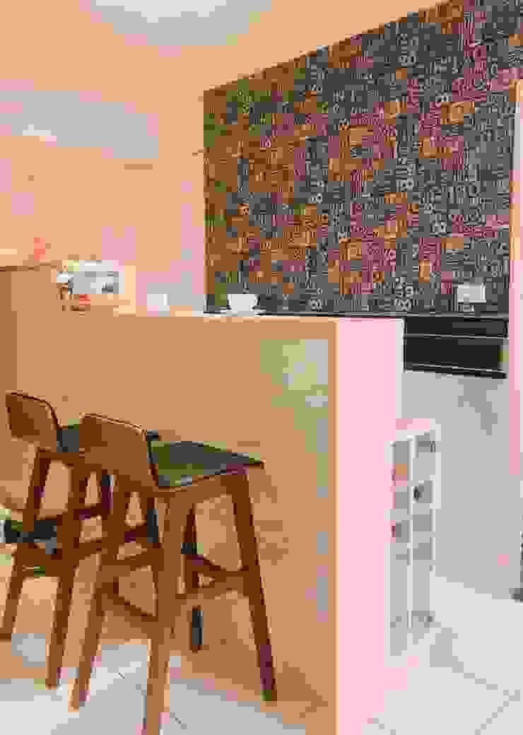 多功能吧檯桌 藏私系統傢俱 玄關、走廊與階梯儲藏櫃 MDF Wood effect