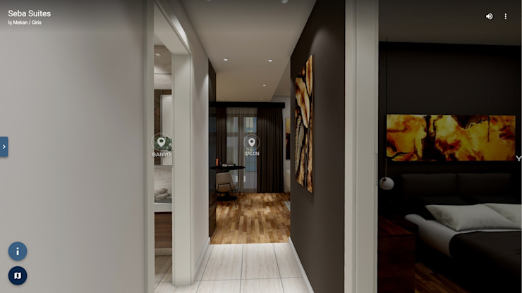 Modern Corridor, Hallway and Staircase by ELTA VR SOLUTIONS Modern Wood Wood effect