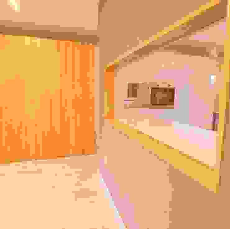 Open plan Dab Den Ltd Livings modernos: Ideas, imágenes y decoración Madera Gris