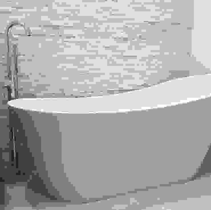 Bathroom Dab Den Ltd Baños modernos Piedra Blanco
