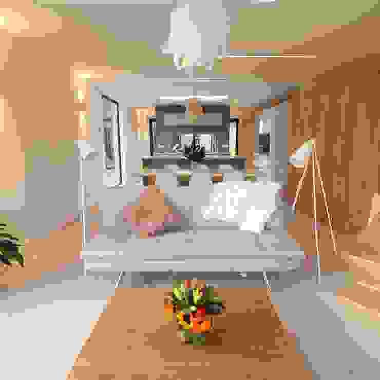 Dab dwelling Dab Den Ltd Livings modernos: Ideas, imágenes y decoración Madera Blanco