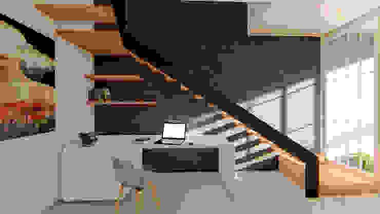 CASA SANTA CATARINA: Escaleras de estilo  por GóMEZ arquitectos,