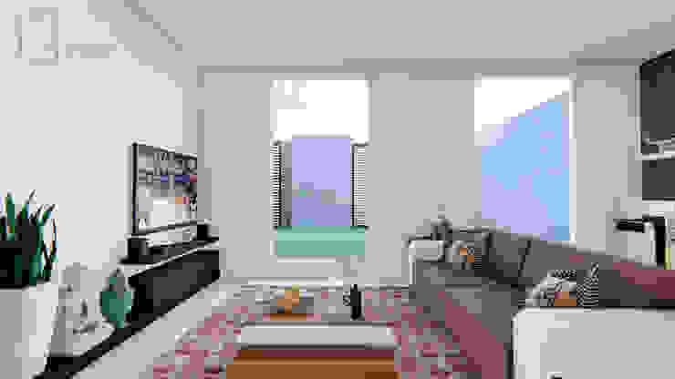 CASA SANTA CATARINA: Salas de estilo  por GóMEZ arquitectos,