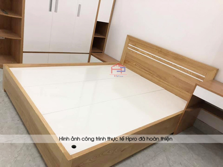 Ảnh thực tế nội thất phòng ngủ của bé gỗ công nghiệp melamine An Cường nhà chị Hiền ở Nam Định: hiện đại  by Nội thất Hpro, Hiện đại