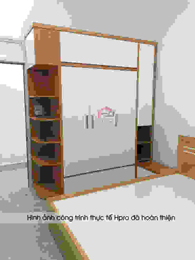 Ảnh thực tế tủ quần áo melamine An Cường nhà chị Hiền ở Nam Định: hiện đại  by Nội thất Hpro, Hiện đại