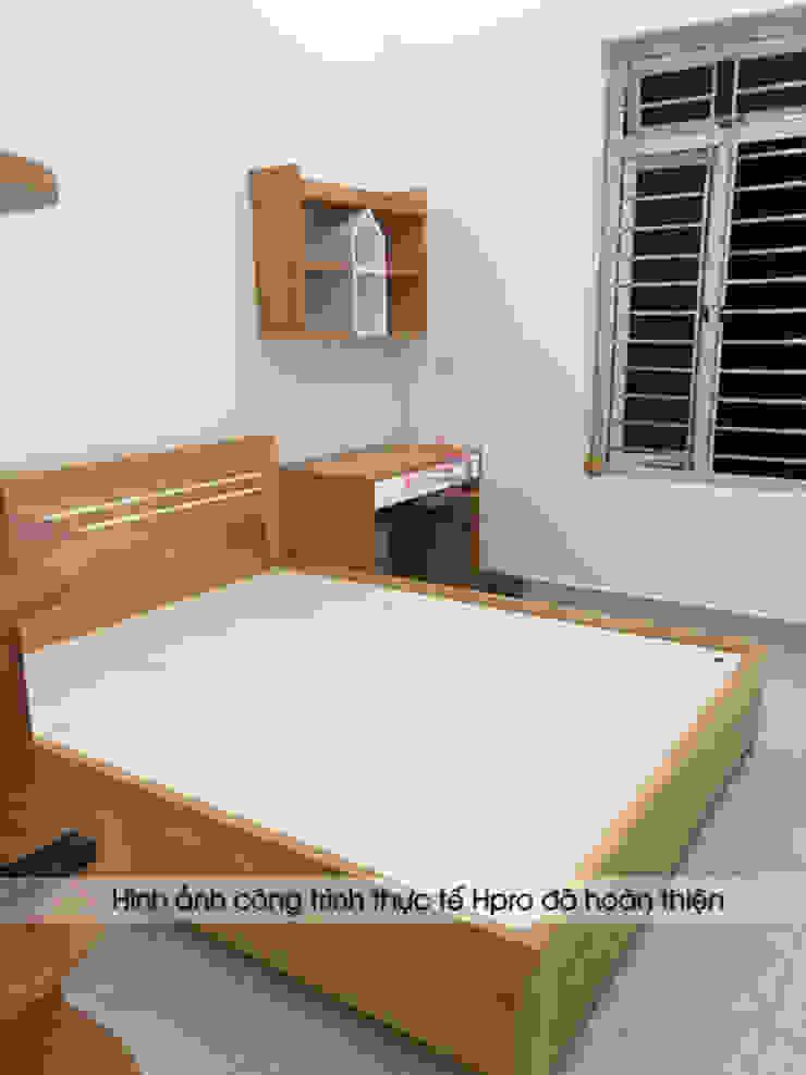 Hình ảnh thực tế nội thất phòng ngủ của bé gỗ công nghiệp melamine An Cường: hiện đại  by Nội thất Hpro, Hiện đại