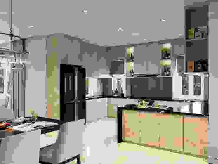 THIẾT KẾ NỘI THẤT NỘI THẤT BIỆT THỰ HIỆN ĐẠI – Tầm nhìn về cuộc sống vững bền! Nhà bếp phong cách hiện đại bởi ICON INTERIOR Hiện đại