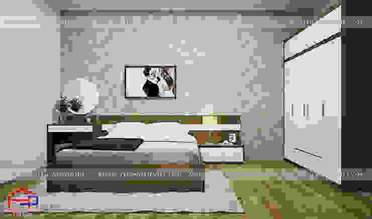 Ảnh 3D thiết kế nội thất phòng ngủ master nhà chị Tuyết ở Phú Thọ bởi Nội thất Hpro