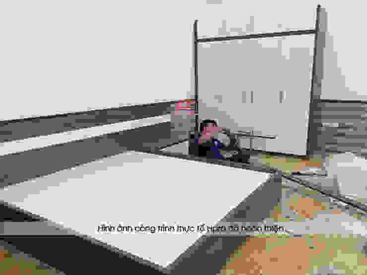 Lắp đặt, thi công nội thất phòng ngủ gỗ công nghiệp melamine An Cường nhà chị Tuyết ở Phú Thọ bởi Nội thất Hpro