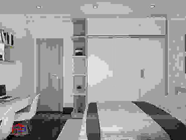 Ảnh 3D thiết kế nội thất phòng ngủ cho bé nhà anh Thư ở HD Mon - view 2: hiện đại  by Nội thất Hpro, Hiện đại