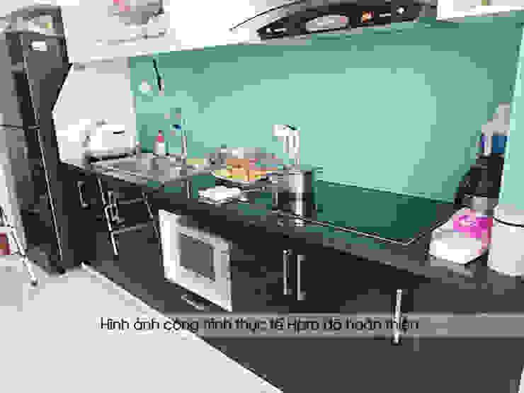 Hoàn thiện tủ bếp acrylic và nội thất gỗ An Cường nhà anh Thư P2715 CT1A HD Mon: hiện đại  by Nội thất Hpro, Hiện đại