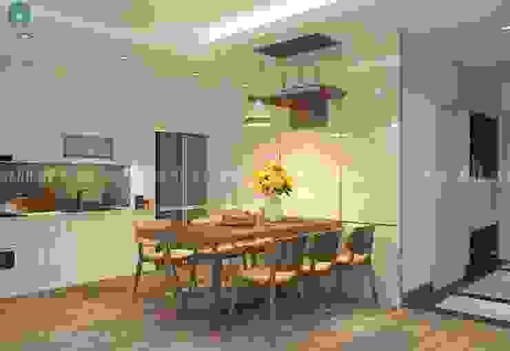 thiết kế nội thất chung cư Phòng ăn phong cách hiện đại bởi Công ty TNHH Nội Thất Mạnh Hệ Hiện đại Đá hoa
