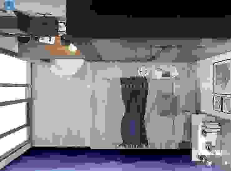 thiết kế nội thất chung cư Phòng ngủ phong cách hiện đại bởi Công ty TNHH Nội Thất Mạnh Hệ Hiện đại Ván ép