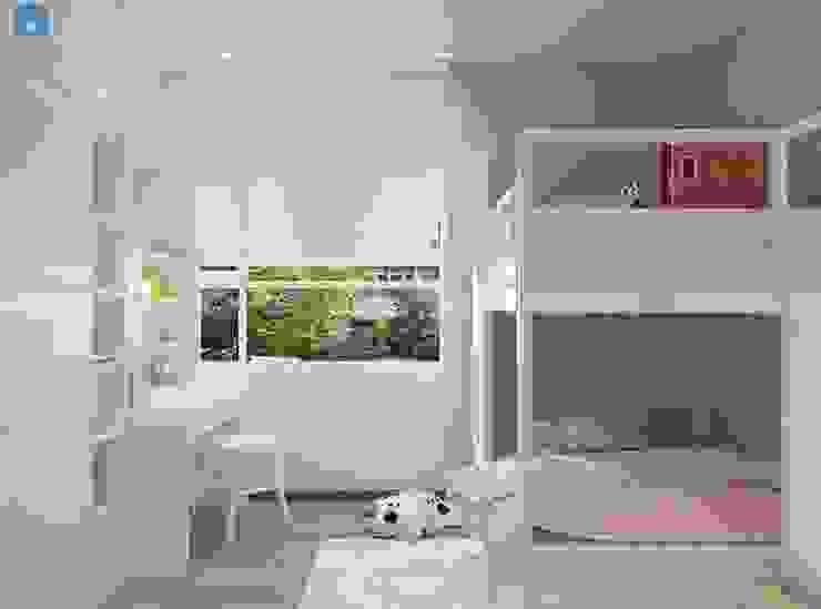 thiết kế nội thất chung cư Phòng ngủ phong cách hiện đại bởi Công ty TNHH Nội Thất Mạnh Hệ Hiện đại Nhôm / Kẽm
