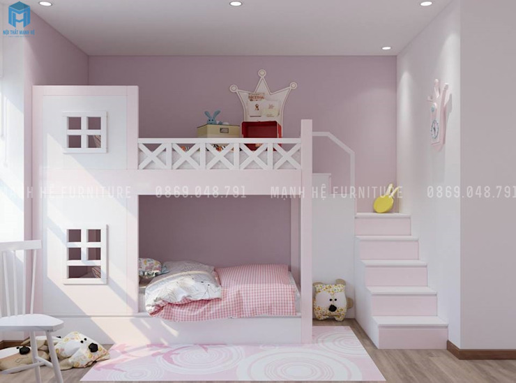ห้องนอน by Công ty TNHH Nội Thất Mạnh Hệ