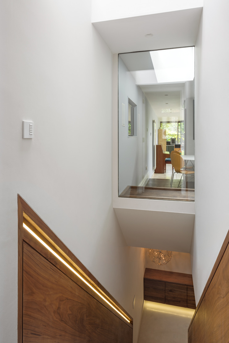 The Sunken Room Modern corridor, hallway & stairs by Shape London Modern