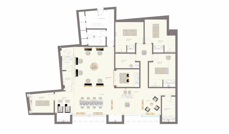 Floor Plan 1 by Elena Lenzi INTERIOR ARCHITECTURE
