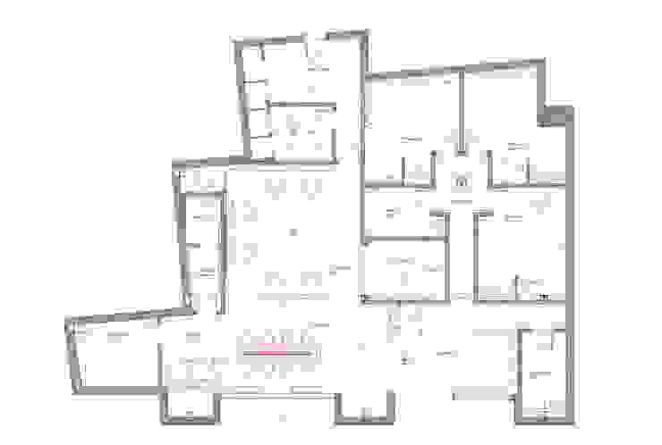 Technical floor plan by Elena Lenzi INTERIOR ARCHITECTURE